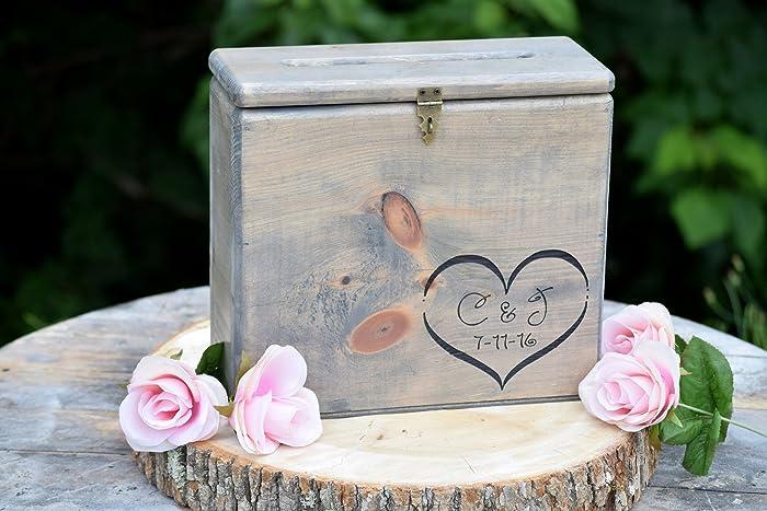 Amazon Secured Lockable Card Box with Card Slit Rustic – Lockable Wedding Card Box