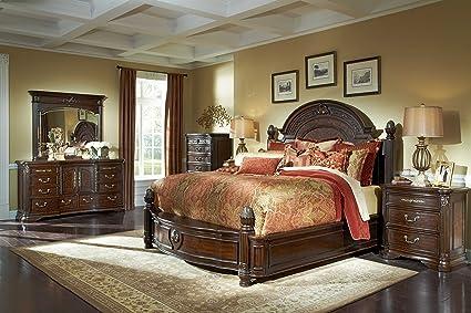 Amazon Com 4pc Villagio Queen Storage Panel Bedroom Furniture Set