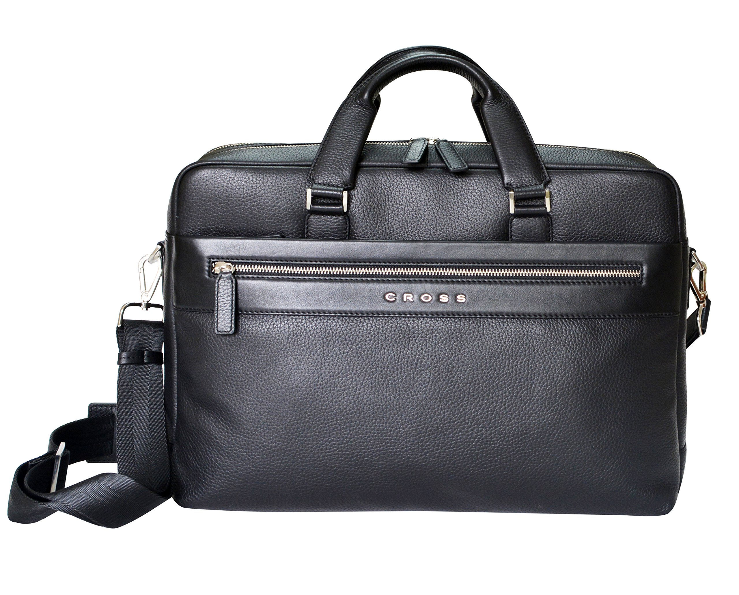 Cross Men's Artificial Leather Profesonal Weekender / Business Laptop Bag - Black