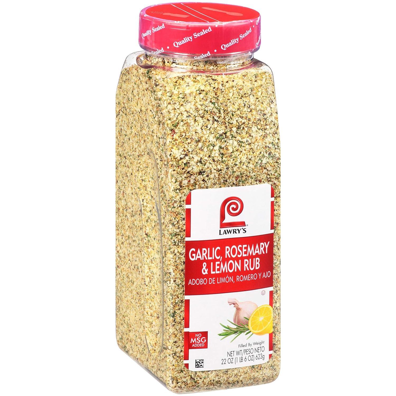 Lawry's Garlic, Rosemary & Lemon Rub, 22 oz