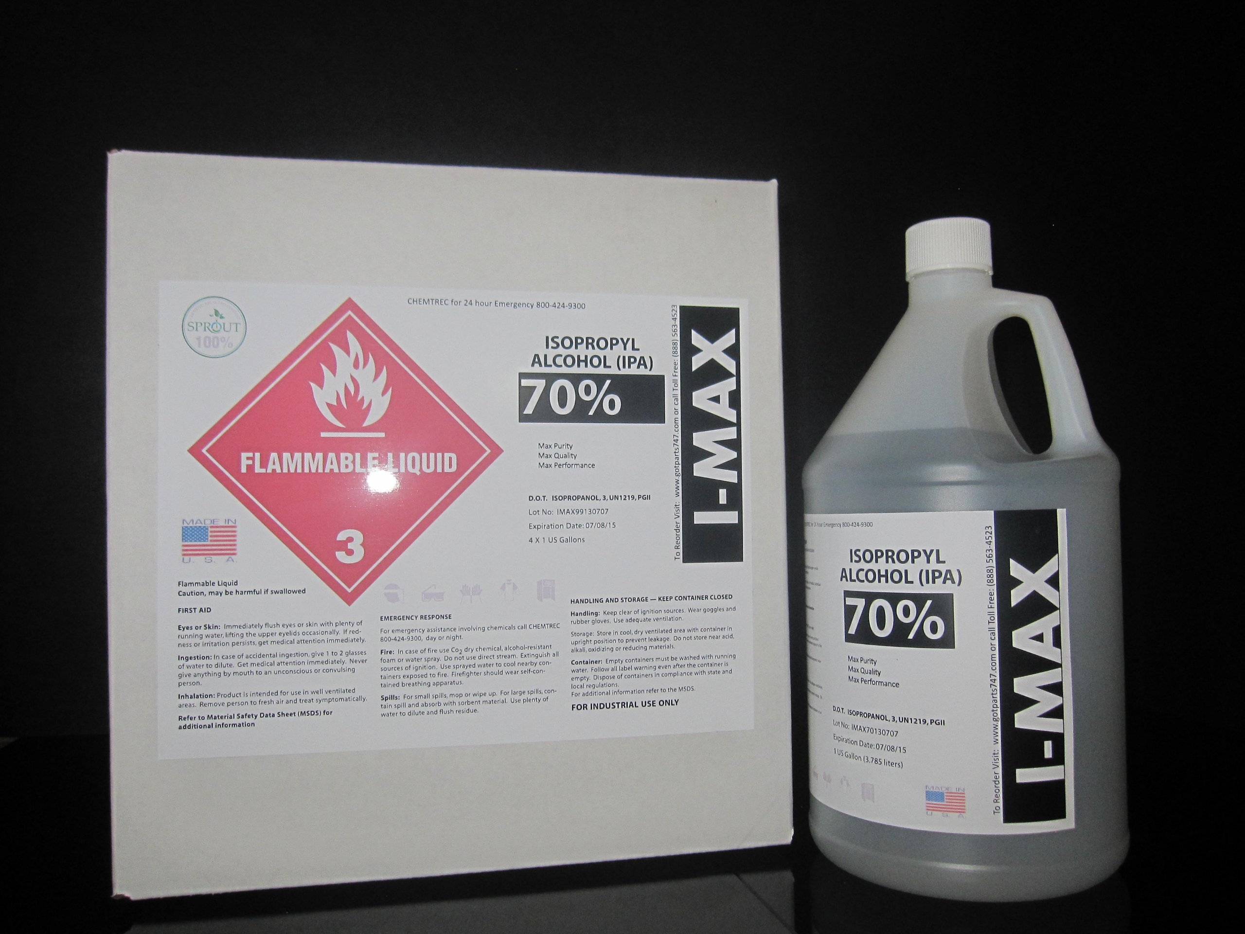 Isopropyl Alcohol - IPA 70% (4-1 Gallon)