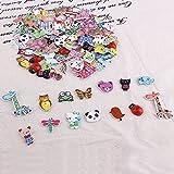 100x Bouton en bois Animal Mixte multicolore scrapbooking décoration