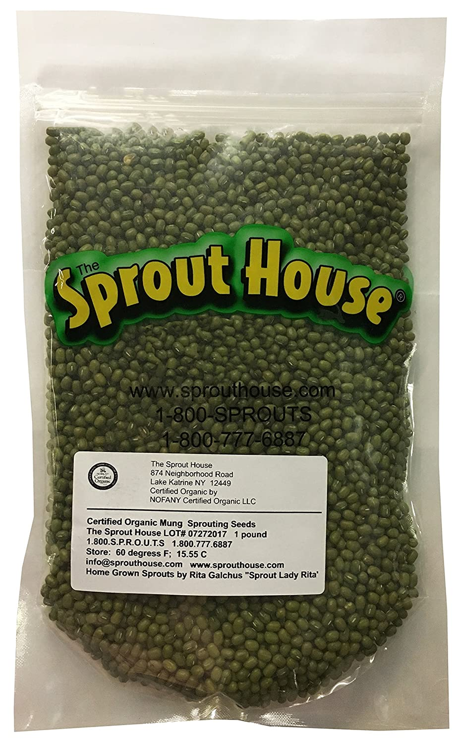 Organic Sprouting Seeds Mung Bean 1 Pound the Sprout House