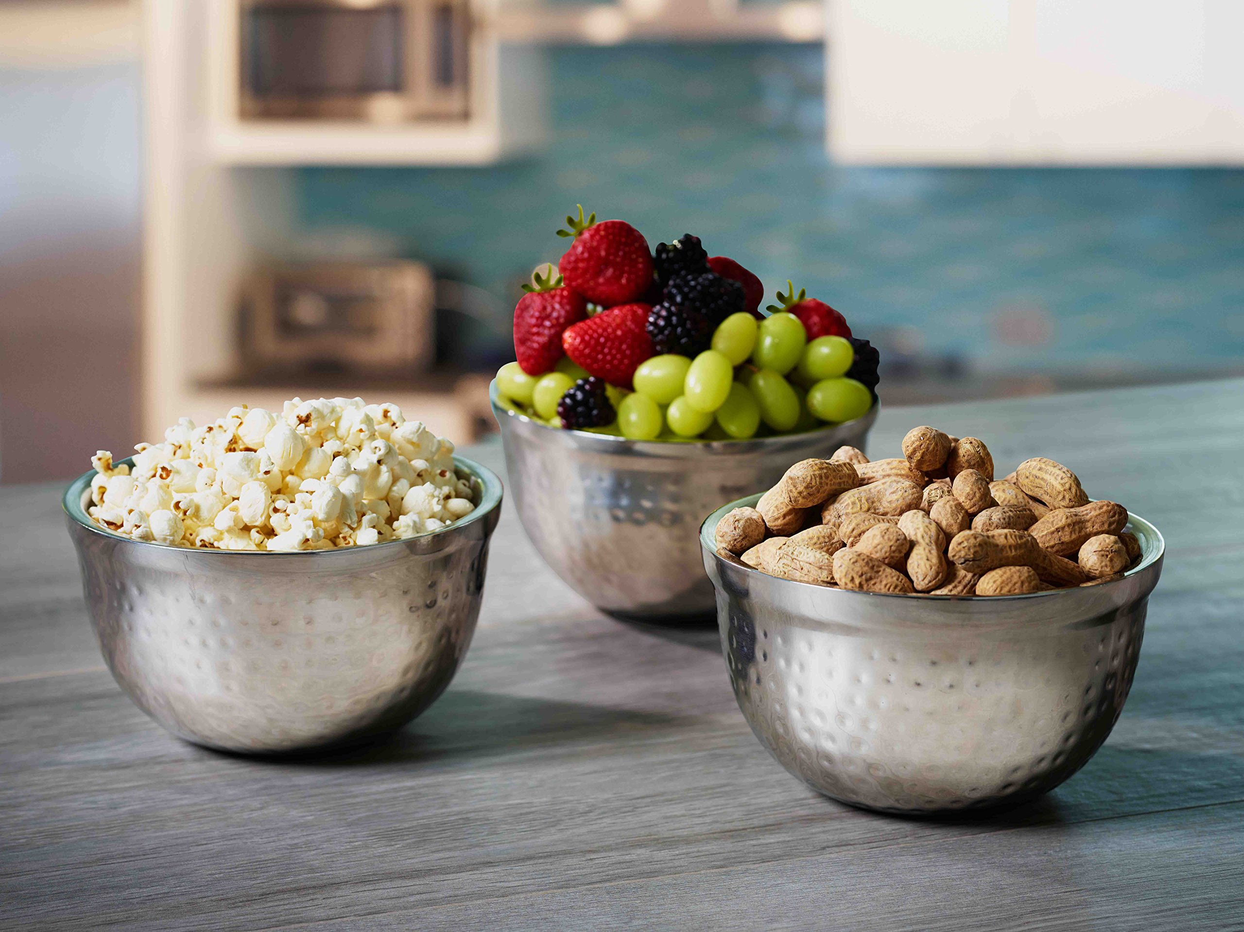 BirdRock Home Stainless Steel Appetizer Bowl Set | Includes 3 Bowls