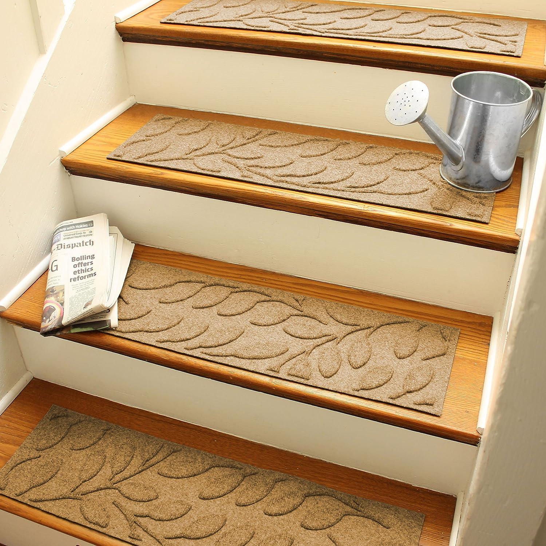 Amazon.com : AquaShield Brittany Leaf Stair Treads, 8.5 By 30 Inch, Gold,  Set Of 4 : Garden U0026 Outdoor