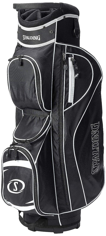 Spalding SC35, Bolsa de carro para palos de golf, color negro/blanco, talla 8.5