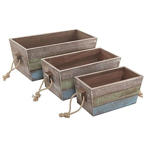 Amazon.com: MyGift Nesting Cajas de madera Cajas de ...