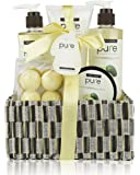 Avocado Oil Spa Gift Basket. Natural Spa Basket with Bath Bombs, Bubble Bath, Shower Gel & Body Lotion Gift Set. Best Birthday Gift for Women!