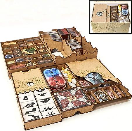 TowerRex Organizador de almacenamiento para almacenamiento Gloomhaven para Gloomhaven Organizador Kit Token Box Card Insert: Amazon.es: Juguetes y juegos