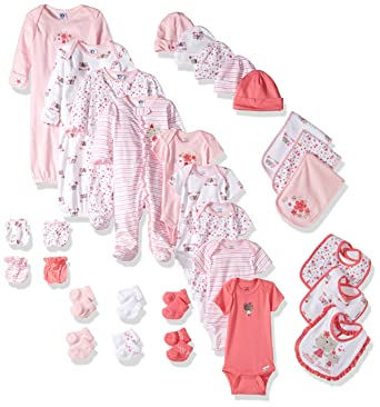 Amazon gerber baby girls 30 piece essentials gift set lil amazon gerber baby girls 30 piece essentials gift set lil flowers 0 3m onesiessleep n playsockmitten 0 6m gowncap 0 6 months one size negle Gallery
