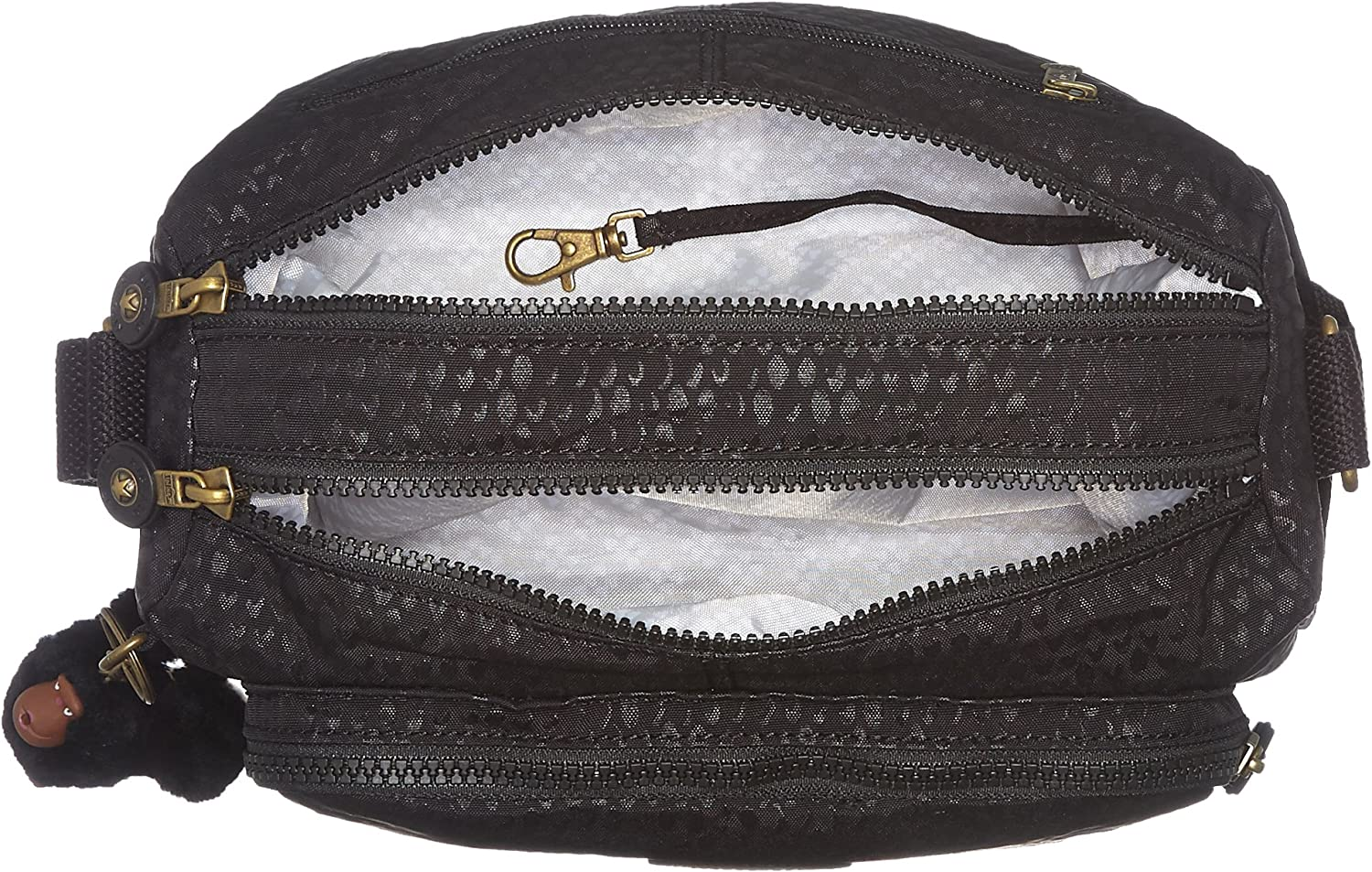 Kipling Women's Reth Hobo Shoulder Bag Black (Black Scarlet Emb)
