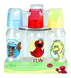 Sesame Street Bottle Set, 9 Ounce (Pack of 3)