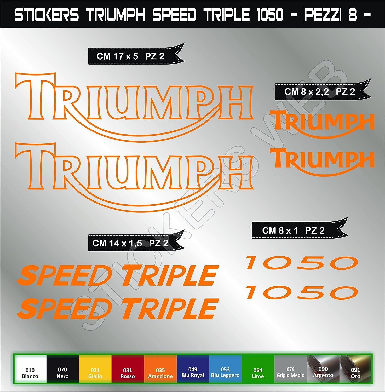 Cod 0571 Motorrad Pimastickerslab Aufkleber Stickers Triumph Speed Triple 1050