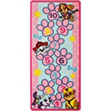 """Paw Patrol Toys Rug Hopscotch Mat Skye, Marshall, Rubble, Everest Kids Game Rugs Throw Runner, 26""""x58"""", Pink"""