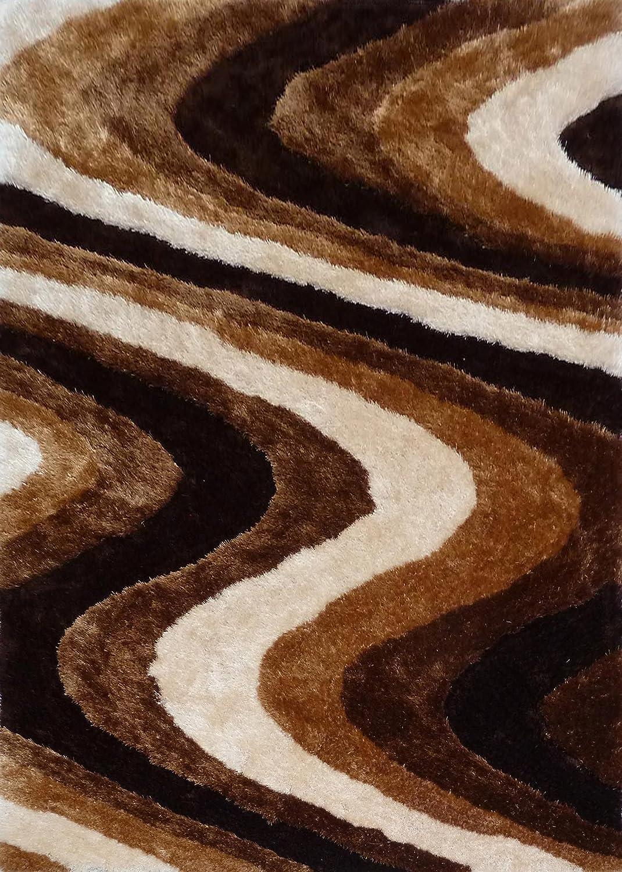 Amazon.com: RUGADDICTION Hermosa Alfombra Color Café hecha a mano estilo moderno suave y lujosa , gruesa pila de tamaño 5 x 7 pies OFERTA TIEMPO ...
