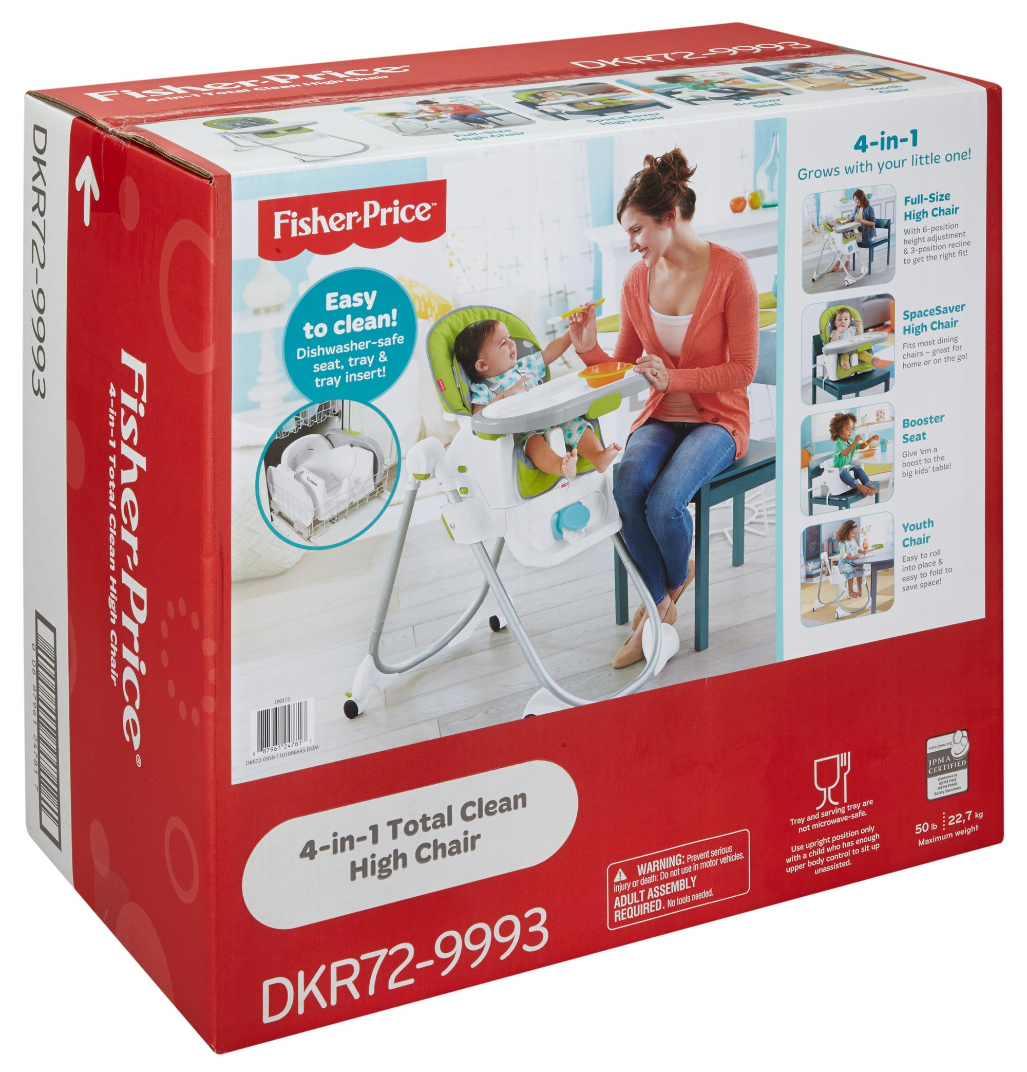 Fisher-Price 4-in-1 Total Clean High Chair, Green/Gray by Fisher-Price (Image #17)