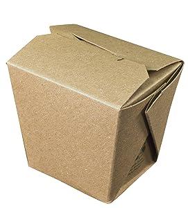 Fold-Pak Earth 08MWEARTHM Paper Microwaveable Food Pail, 2-3/8