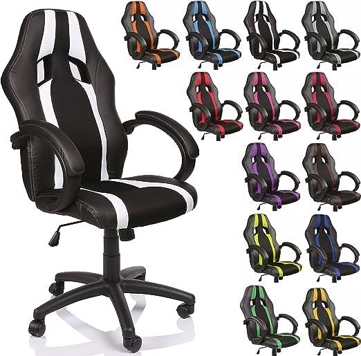 Todo para el streamer: Tresko® Sillón de oficina Racer, clase de lujo–Disponible en diferentes colores