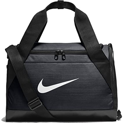 Nike Brasilia Polyester Duffel Bag (Black and White bbc5257e007fc