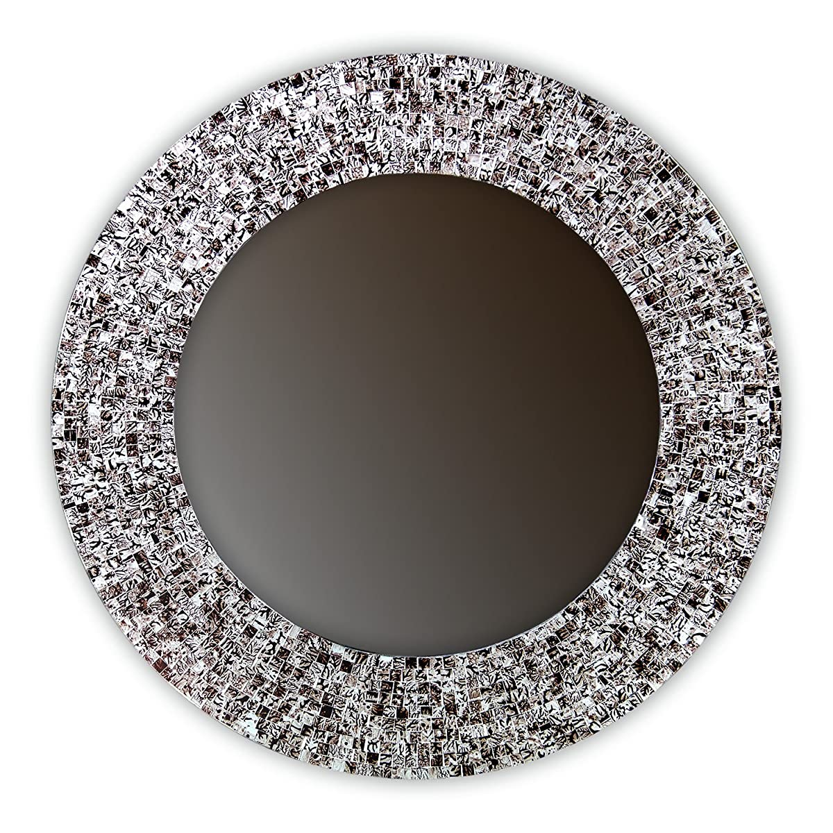 "DecorShore 24"" Iced Coffee, Handmade Wall Mirror, Decorative Glass Mosaic by"