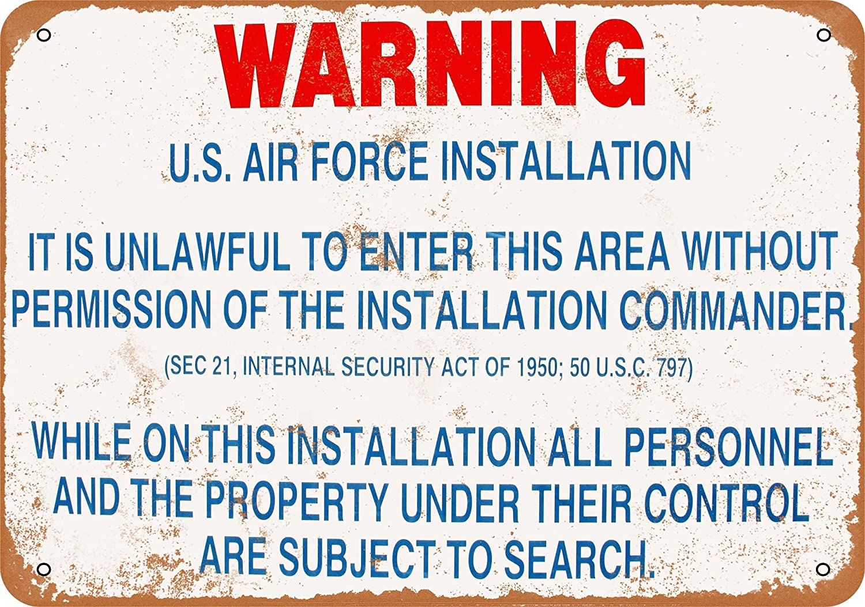 "USAF Air Force Parking Only 8/"" x 12/"" Metal Sign Garage Embossed Plaque Decor"