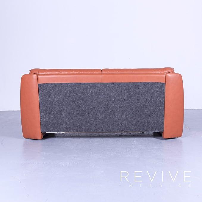 Himolla Sleepoly Designer Canapé Lit Garniture Orange Cuir