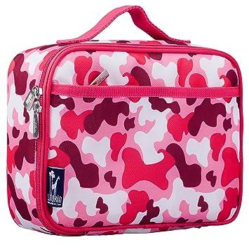 amazon com wildkin camo pink lunch box kitchen dining