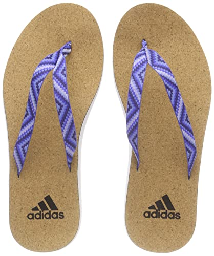 adidas Eezay Cork Flip Flo, Chaussures pour Sports Aquatiques Femme, Multicolore (Ftwwht/Nobink/Ashblu Cg2816), 39 EU