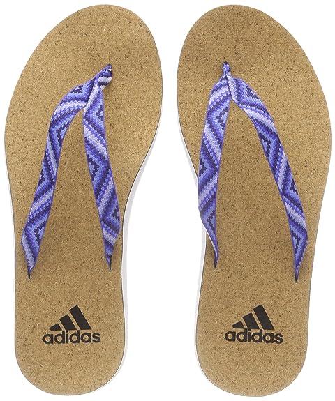 online retailer 6df43 26b32 adidas Eezay Cork Flip Flo, Scarpe da Spiaggia e Piscina Donna, Bianco  (Ftwwht