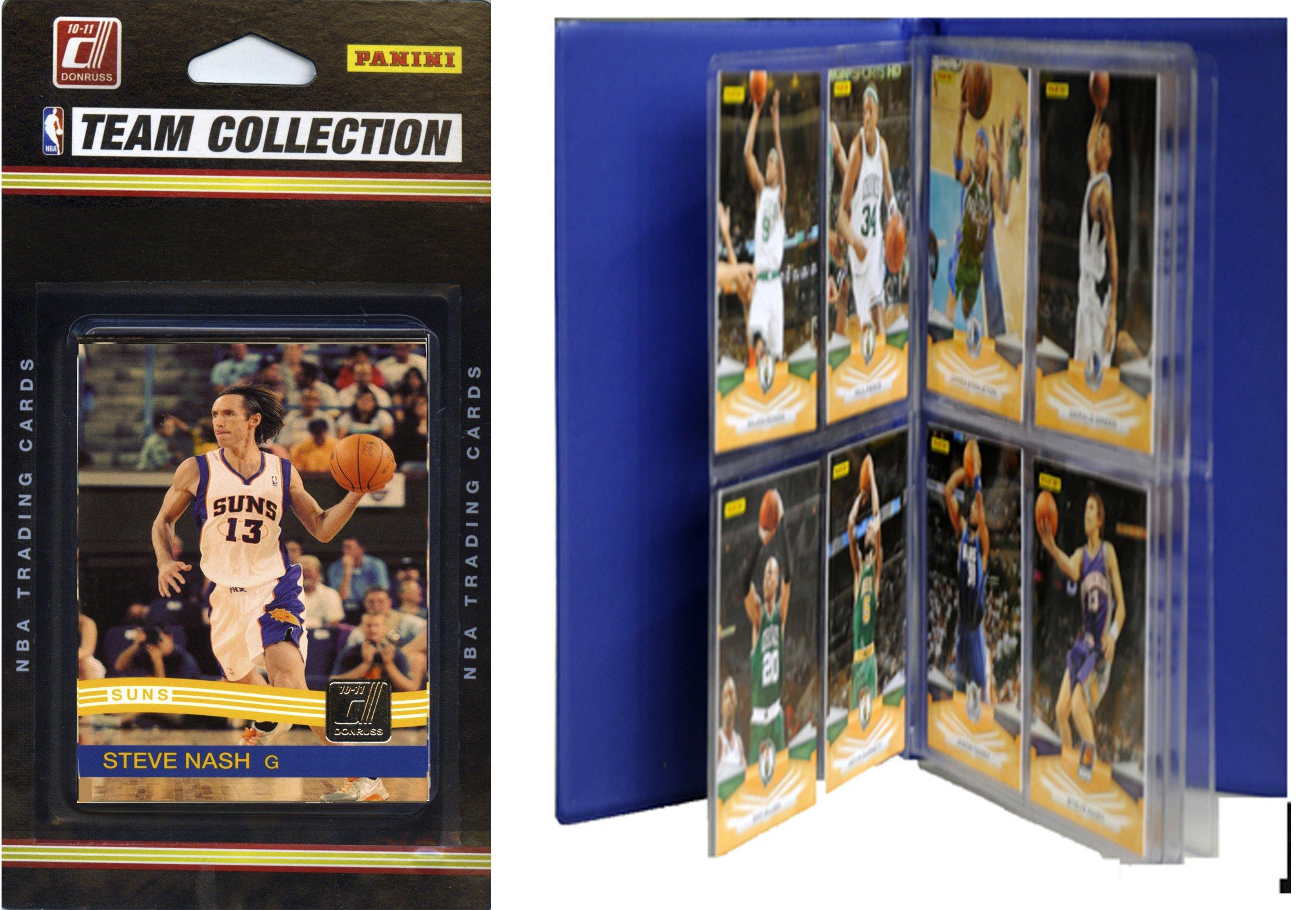 NBA Phoenix Suns Licensed 2010-11 Donruss Team Set Plus Storage Album