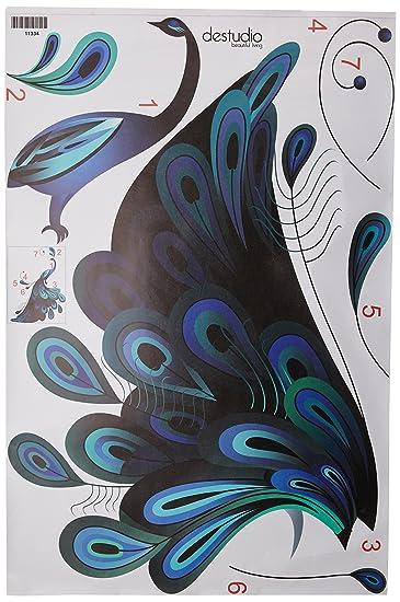 46c0a87bf1a Buy DeStudio  Peacock  Wall Sticker (PVC Vinyl