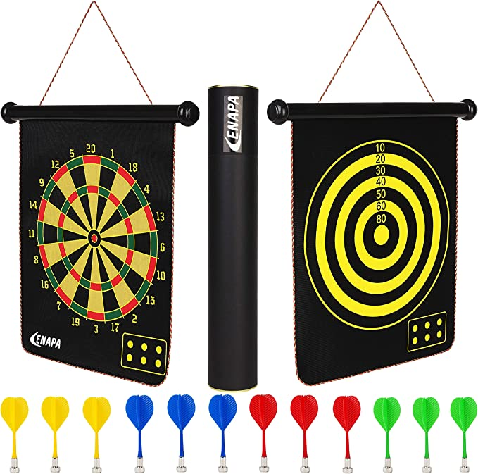 ENAPA Magnetic Dart Board for Kids - Best for Outdoor and Indoor Use