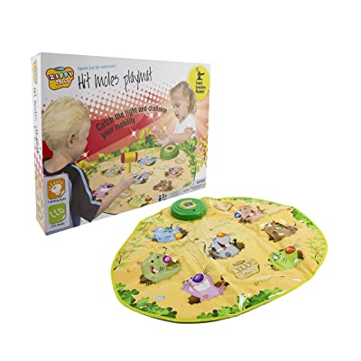 Constructive Playthings Smack-the-Moles Play Mat - Teaches Hand-Eye Coordination and Visual Acuity - Fun and Portable - BPA and PVC Free: Office Products