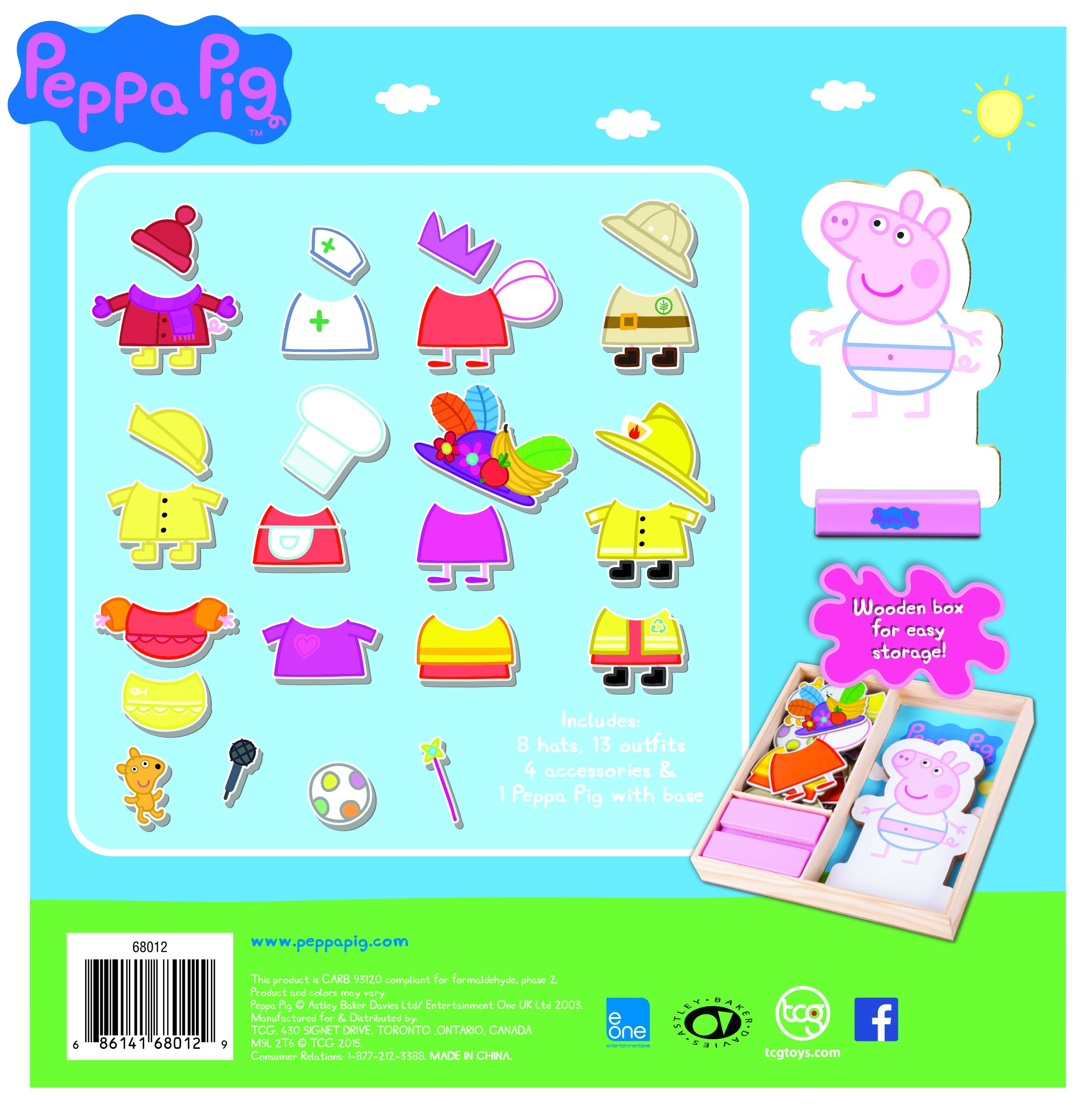 Peppa Pig Magnetic Wood Dress Up Puzzle (25 Piece) by Peppa Pig (Image #2)