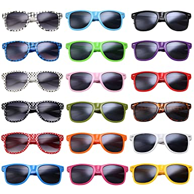43ec142b46f grinderPUNCH 24-Pack Party Shades Sunglasses Classic Style Assorted Colors