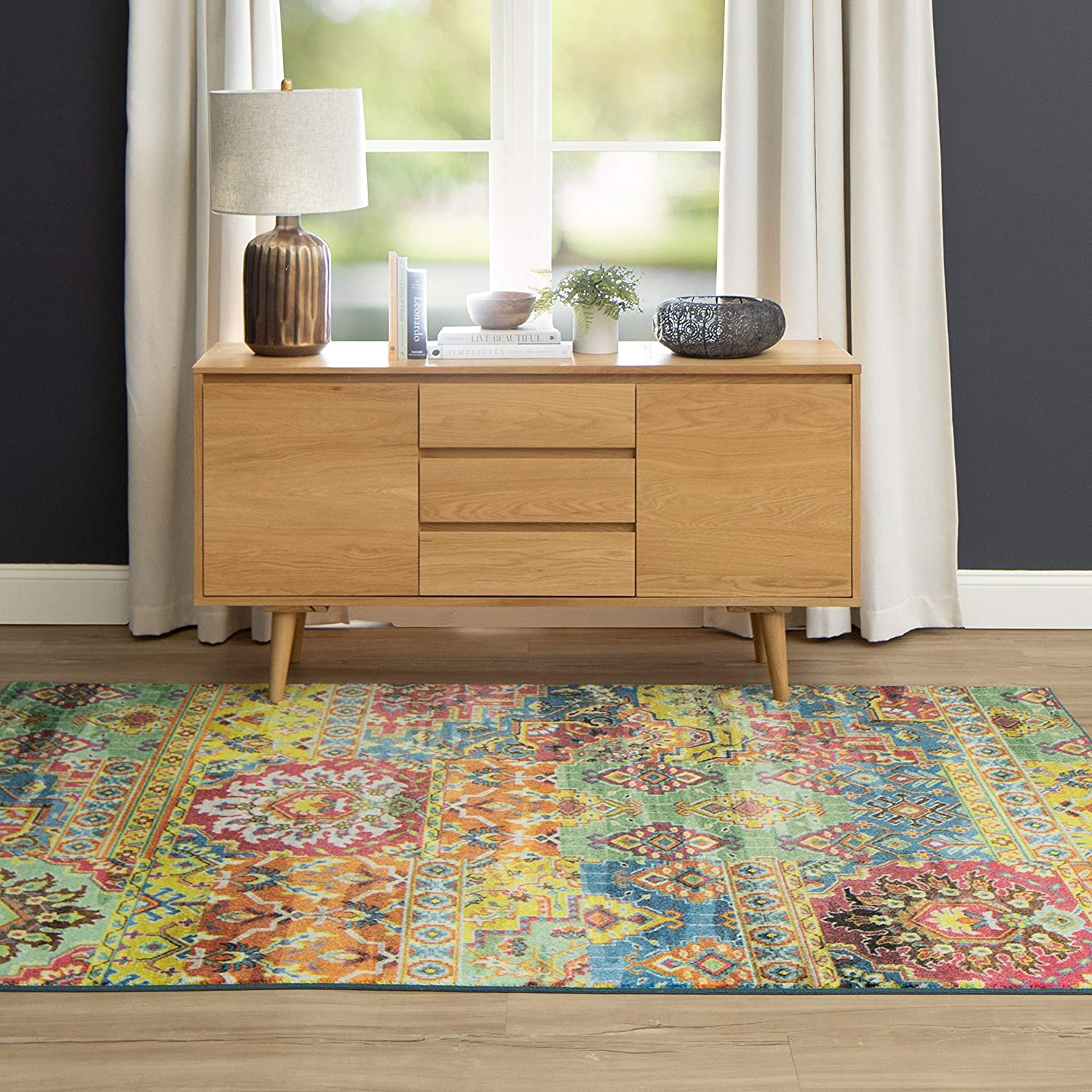 Mohawk Home Prismatic Plano Area Rug, 5'0 X 8'0, MULTI