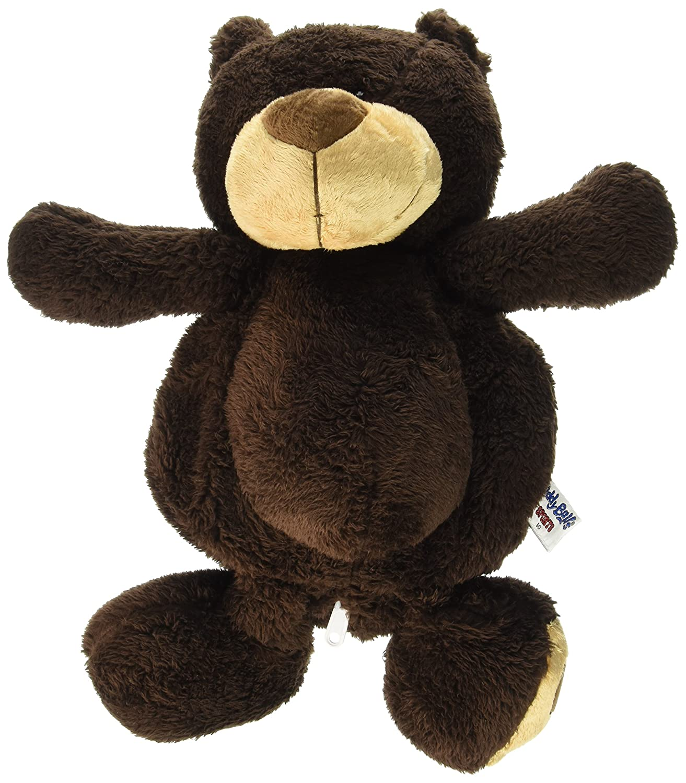 Buddy Balls Plush Teddy Bear Convertible Toy Basketball-Bo Chocolate//Orange