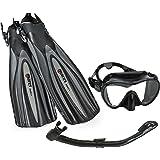 Mares Excel Plus Fin Calypso Mask Snorkel Scuba Gear Set