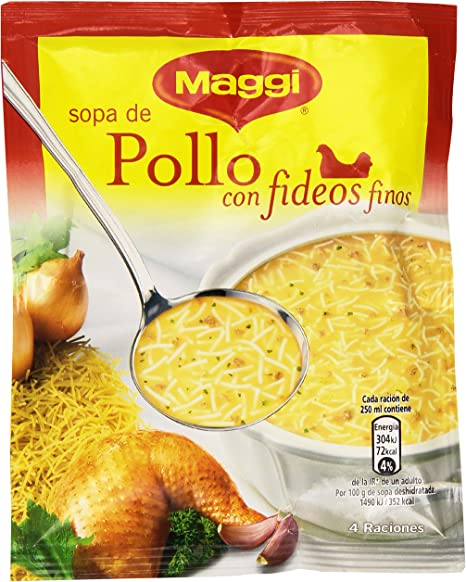 Maggi Sopa de Pollo con Fideos Finos, Sopa Deshidratada - 82 gr