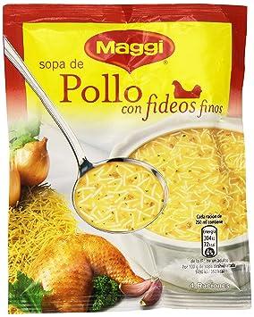 MAGGI Sopa de Pollo con Fideos Finos - Sopa Deshidratada - Sobre 82g (4 raciones): Amazon.es: Amazon Pantry