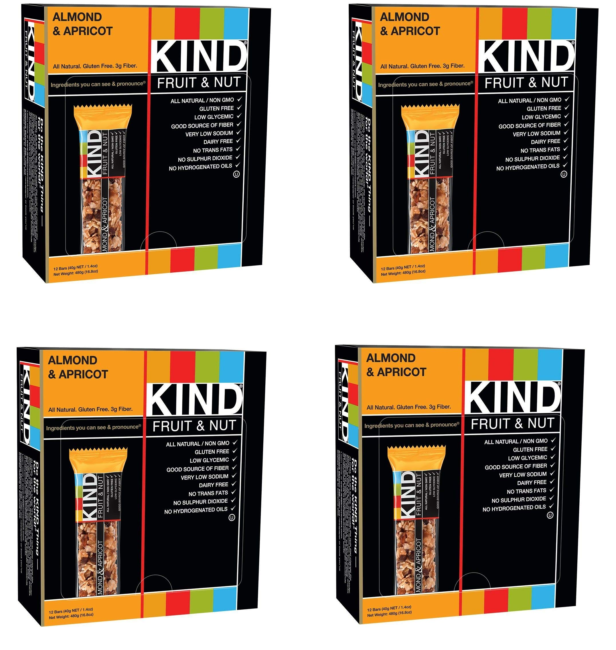 KIND Bars, Almond and Apricot, Gluten Free, 1.4oz, 48 Bars by KIND (Image #1)