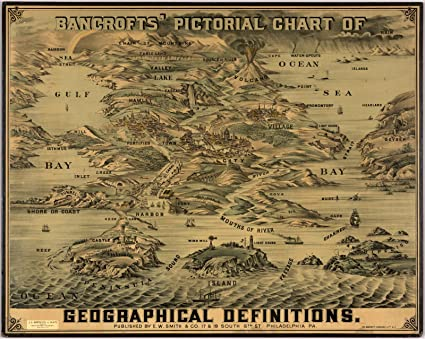 Historical Map Definition Historic Map | Bancrofts' pictorial chart of geographical