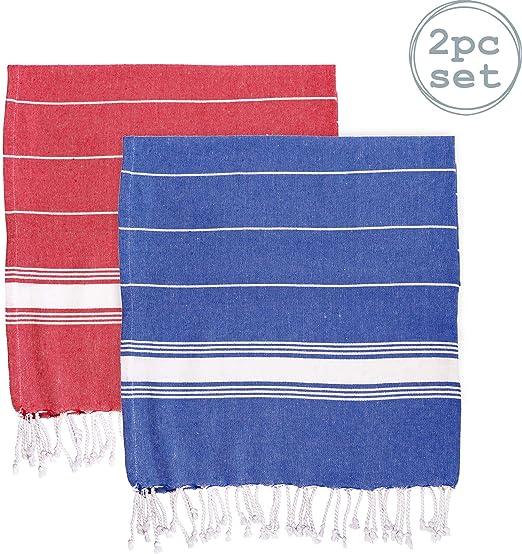 Toalla de baño - Microfibra de 100 % algodón Turco - Azul Marino ...