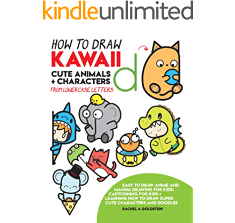 How To Draw Kawaii Cute Animals Characters From Lowercase Letters Easy To Draw Anime And Manga Drawing For Kids Cartooning For Kids Learning How To Draw Super Cute Characters And