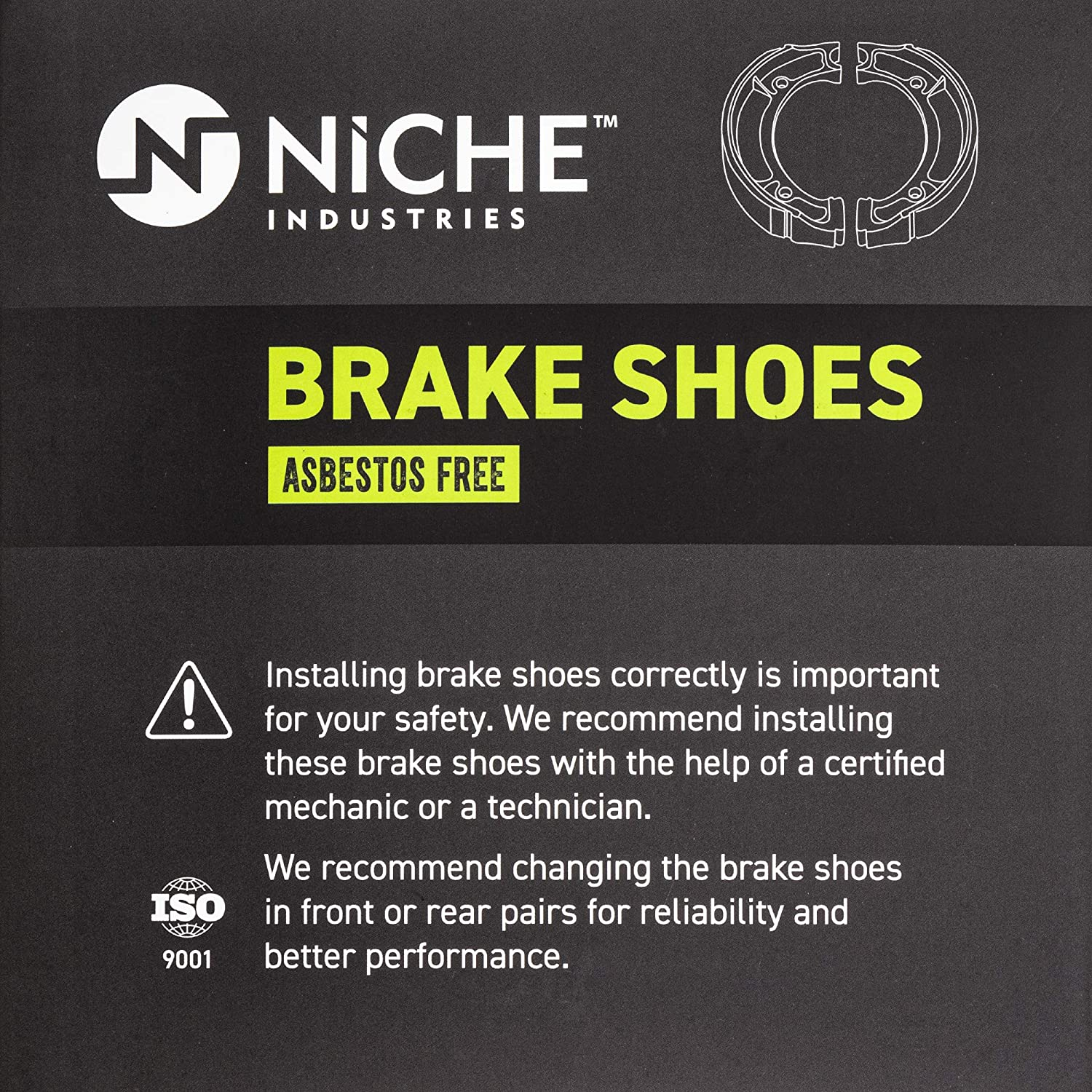 NICHE Brake Shoe for Yamaha G6S PW80 XT125 TTR90 TW200 TTR125L YZ80 AT3 YZ100 4BE-W253E-00-00 Rear