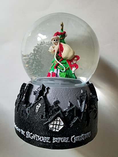 the nightmare before christmas jack skellington christmas tree snow globe - Nightmare Before Christmas Snow Globes