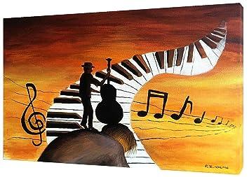 PIANO - Llavero y aceite para pintar sobre lienzos, fotos ...