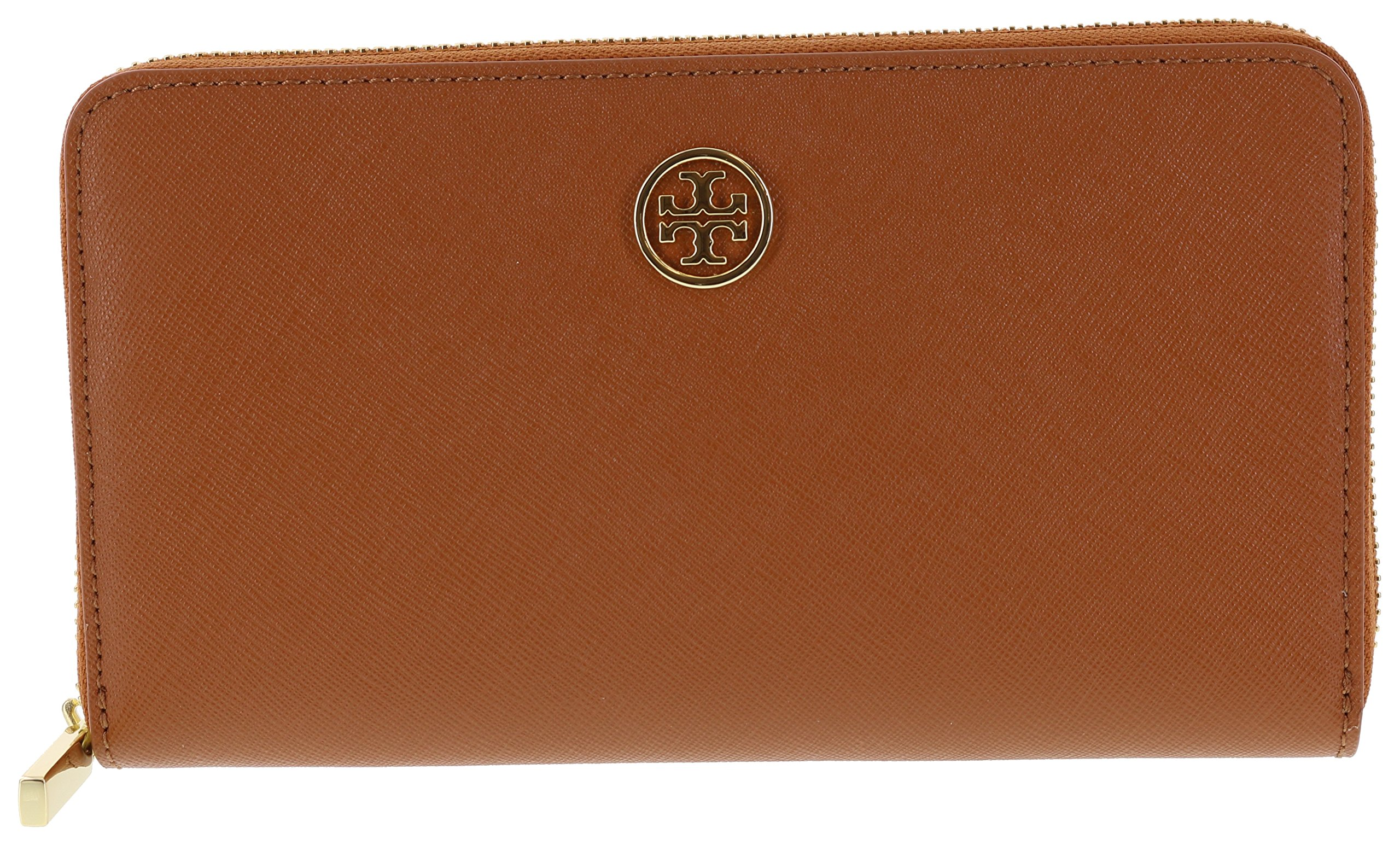 Tory Burch Robinson Zip Continental Wallet in Saffiano Leather, Style No. 33650 (Luggage) by Tory Burch