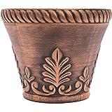 Rustic Venetian Look Plastic Planter 10X8 Flowerpot for Indoor, Outdoor, Garden, Patio, Office Ornaments, Home Decor, Long Lasting Reusable, Light Weight, Water Resistant (Copper)