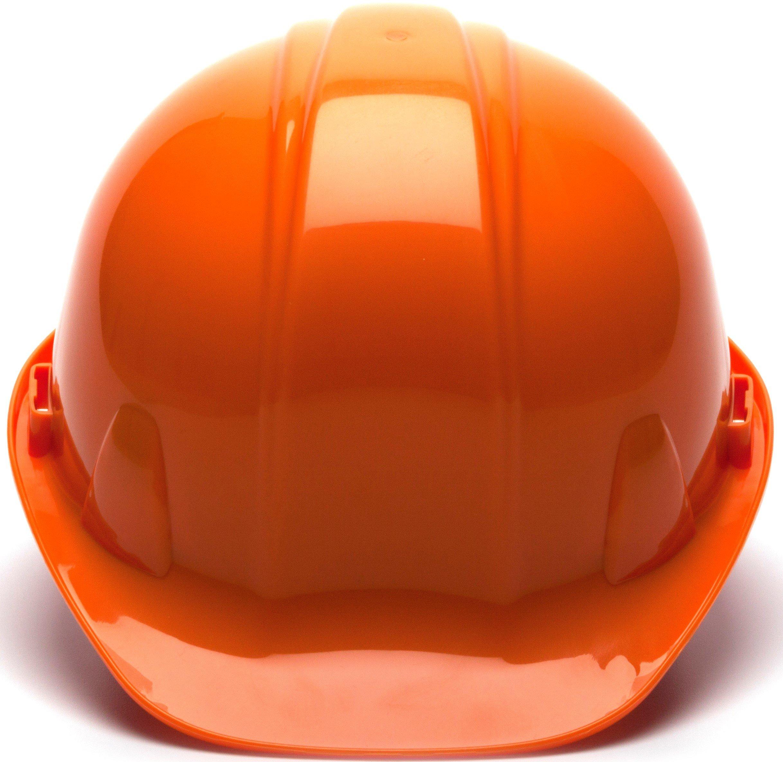 Pyramex Standard Shell Snap Lock Suspension Hard Hat, 4 Point Snap Lock Suspension, Orange by Pyramex Safety (Image #2)